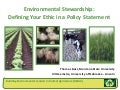Environmental Stewardship: Defining Your Ethic in a Policy Statement