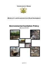 Environmental sanitation policy of ...