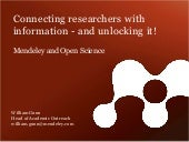 CNI Spring 2011: Connecting Researchers with Information - and Unlocking It!