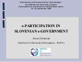 Eparticipation In Slovenian E Gover...