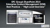 EPC Group SharePoint 2010 Enterpris...