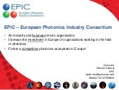 EPIC - European Photonics Industry ...