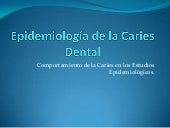 Epidemiología de la caries dental