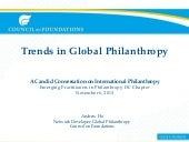 Trends in Global Philanthropy