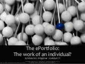 The ePortfolio: The work of an indi...