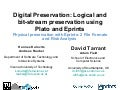Physical preservation with EPrints: 2 File Formats and Risk Analysis, by David Tarrant, Adam Field, Hannes Kulovits and Andreas Rauber