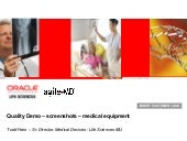 Medical Device Agile Quality Demo