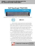 VMmark 2.5.2 virtualization performance of the Dell EqualLogic PS6210XS storage array