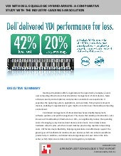 VDI with Dell EqualLogic hybrid arrays: A comparative study with the industry-leading SAN storage solution