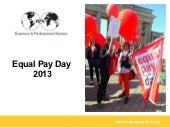 Equal Pay Day Europe 2013
