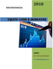 Equities  cash & derivative