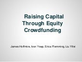 Equity Crowd Funding Webinar 9-26-2013