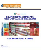 Equity Research Of Colgate Palmoliv...