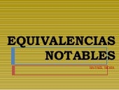 Equivalencias Notables