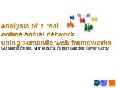 analysis of a real online social ne...