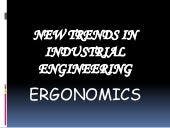 Ergonomics (new trends)