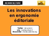 Ergonomie editoriale : les innovations et tendances 2015 Mediaculture.fr - Cyrille Frank