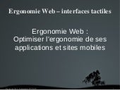 Ergonomie web & interface tactile