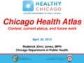 Chicago Health Atlas - Context, Current Status, and Future Work