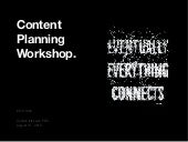 Content Planning Workshop: Confab Intensive 2015