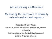 Dr Erin Wilson - School of Health a...