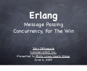 Erlang  Message  Passing  Concurren...