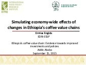 Simulating economy-wide effects of changes in Ethiopia's coffee value chains