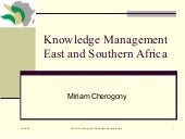 Eastern and Southern Africa KM Netw...