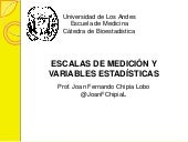 Tipos de escalas y variables estadísticas