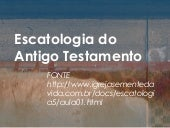 Escatologia do antigo testamento