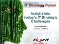 Insight into IT Strategic Challenges