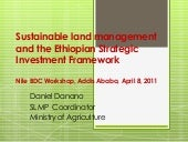 Sustainable land management and the...