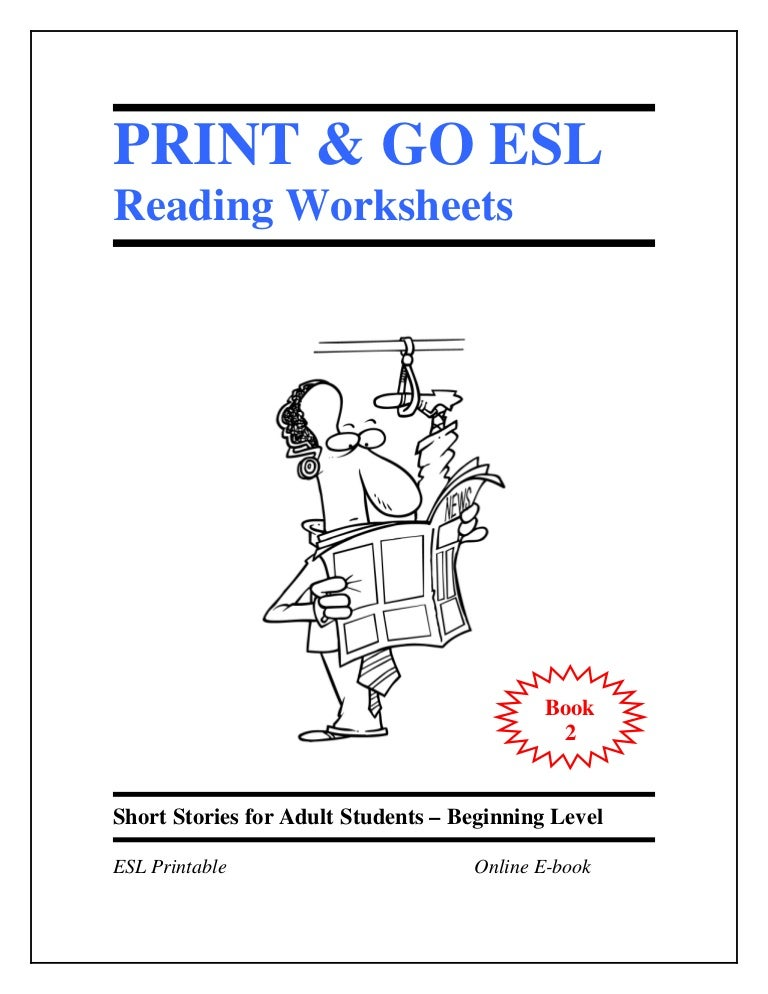 Worksheet Worksheets For Esl Students Beginners esl worksheets book 2 short stories for adult students