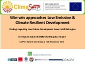 Win-win approaches Low Emission & C...