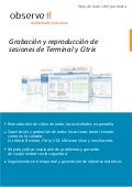 ObserveIT- Record & replay SSH, RDP & Citrix sessions-product datasheet- Spanish