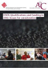 Esol Qualifications Report