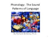 Phonology -- The Sound Patterns of Language Made Easy