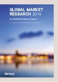 GLOBAL MARKET RESEARCH 2014. An ESOMAR Industry Report