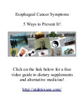 Esophageal cancer symptoms