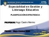 Especialidad En Gestion Y Liderazgo...