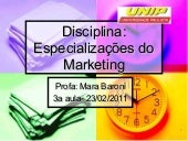 Especializações do marketing   3a a...