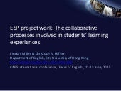 ESP project work: The collaborative processes involved in students' learning experiences