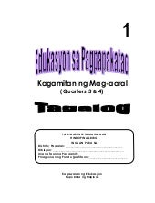 K TO 12 GRADE 1 LEARNING MATERIAL I...