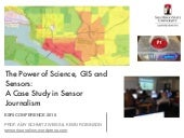 The Power of Science, GIS and Sensors: A Case Study in Sensor Journalism