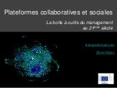 Plateformes collaboratives et socia...