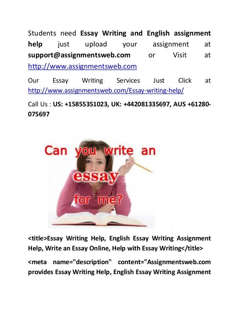 Help english essay
