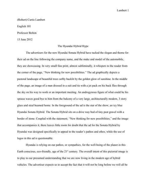 Essay advertisement