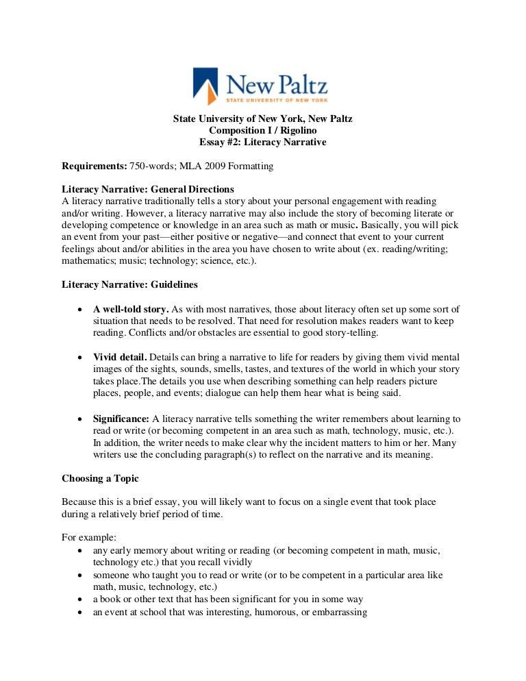 narrative essay topics ideas