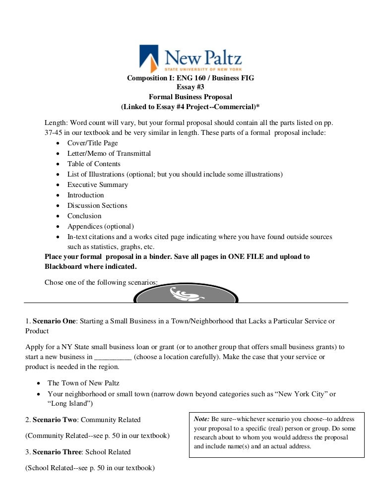 essaybusiness proposal