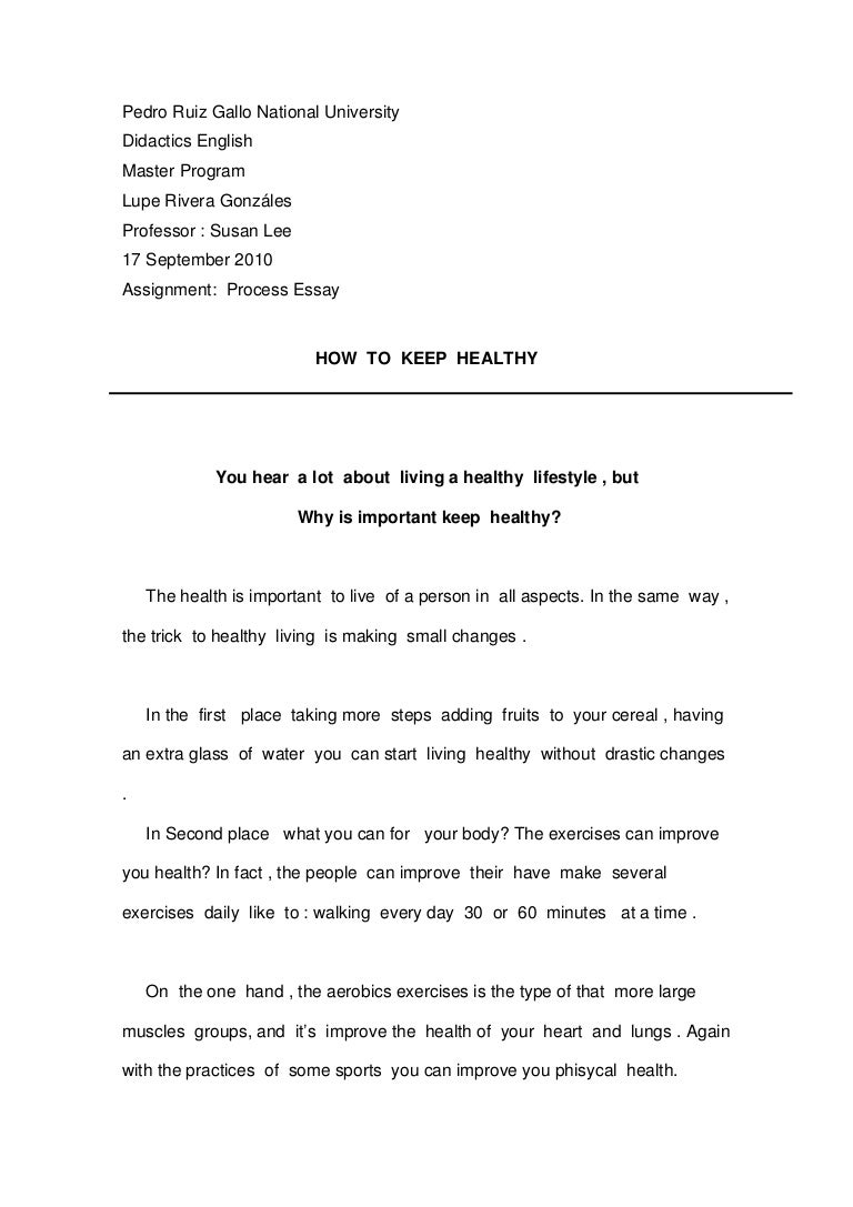 Healthful eating essay